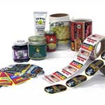 Multi color labeling with food , Jam , source Printer self adhesive label rolls